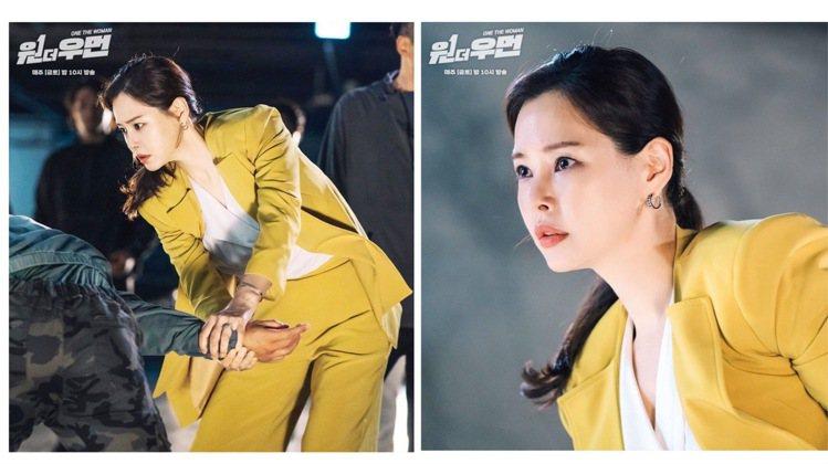 李荷妮回到車禍現場找尋蛛絲馬跡時,穿了DINT芥黃色套裝、搭配FENDI Med...