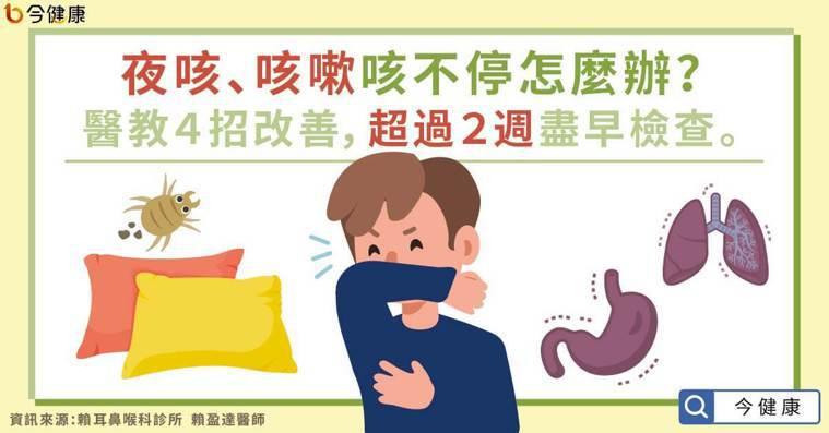夜咳、咳嗽咳不停怎麼辦?醫教4招改善,超過2週盡早檢查。