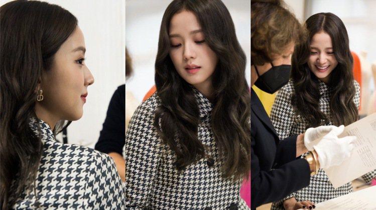 Jisoo參觀DIOR工坊、歷史典藏館及展示春夏時裝系列的工作室,側拍張張都是零...