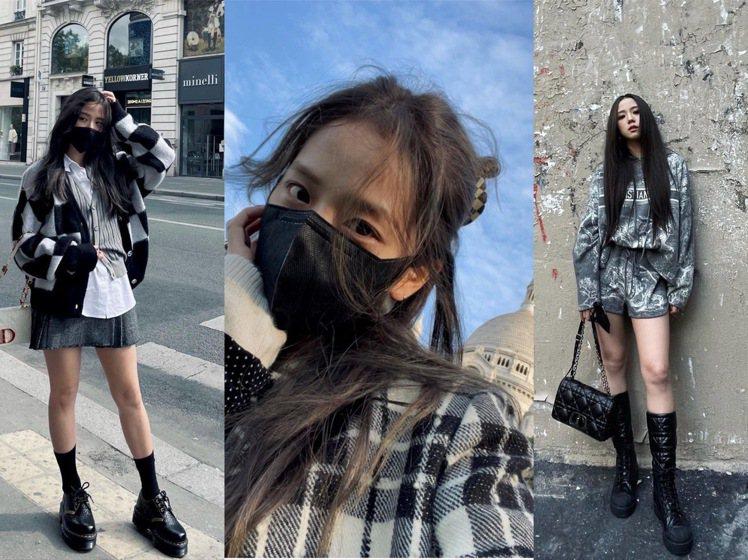 Jisoo於巴黎時裝周期間在IG發表多張街拍。圖/取自IG