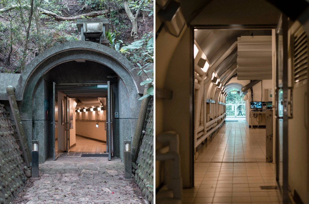 日本神風特攻隊的存糧倉庫,是國家重力觀測站的前身,辦公室藏身於深密防空洞中。 圖...