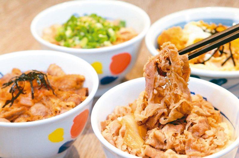 牛丼為日本國民美食的代表,牛丼前身是國人很熟悉的壽喜燒。圖/聯合報系資料照片