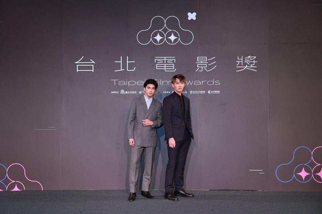 林哲熹(左)、柯震東(右)頒新演員獎。圖/台北電影節提供