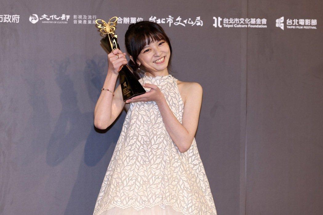 陳姸霏以「無聲」奪下台北電影獎最佳新演員。記者李政龍/攝影