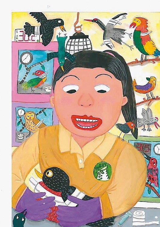 國小高年級組 姜心雅 「感謝野鳥救傷中心」