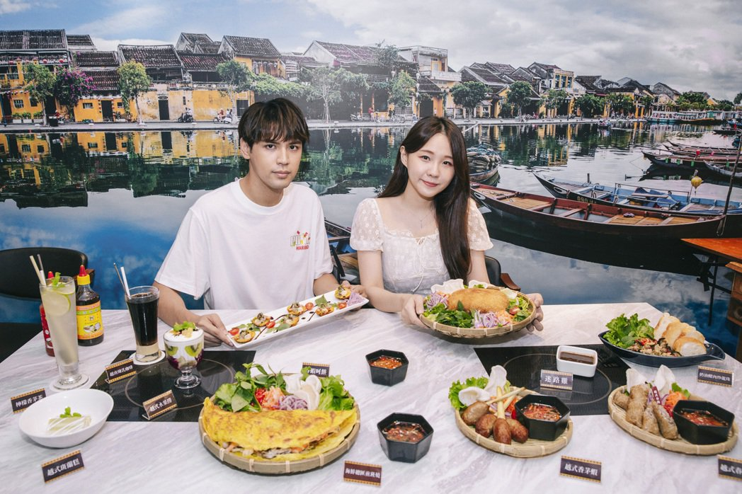 陳零九(左)與女友呼呼穩定交往8年多。圖/會安越南料理提供