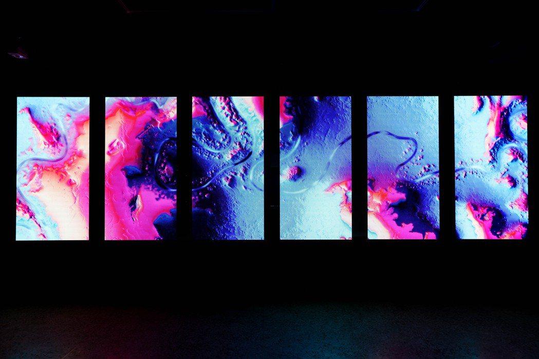 德國設計工作室onformative的作品《漫曲流域》。 圖/吳致碩攝影