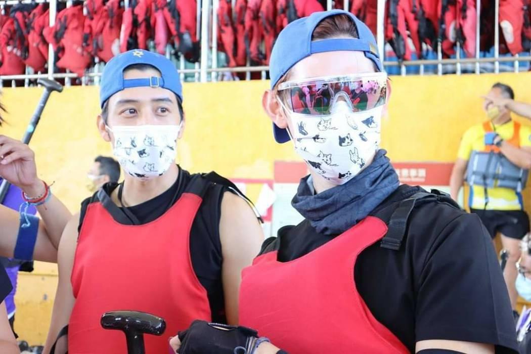 夏和熙與胡宇威一起備戰。圖/摘自臉書