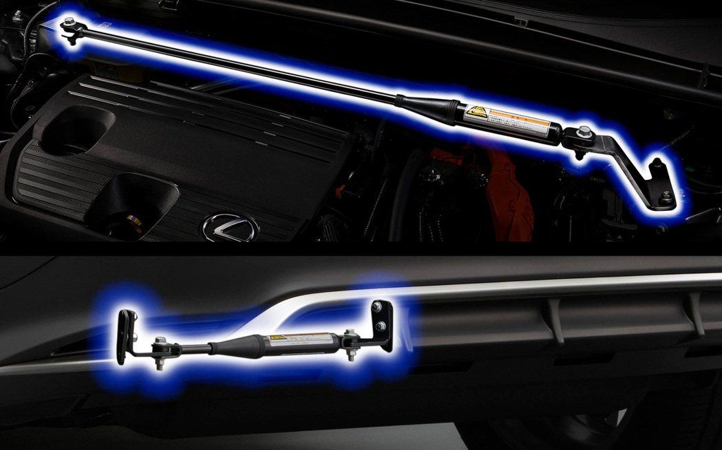 透過專屬的車身強化拉杆,包括了前懸吊拉杆,後懸吊拉杆,車身中央剛性支撐架以及後軸...