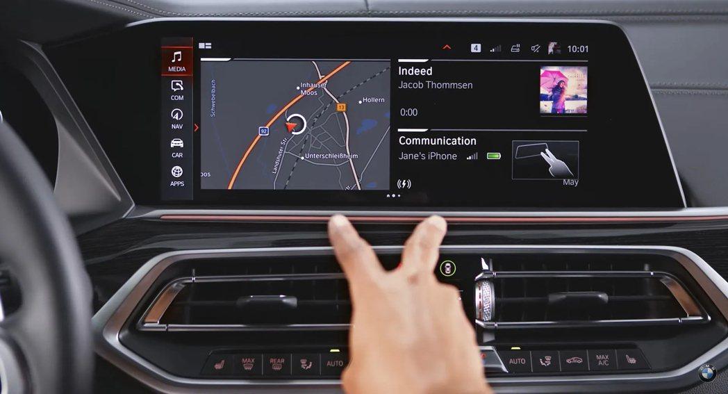 手勢控制在本次調查獲得較多問題迴響。 圖/BMW提供