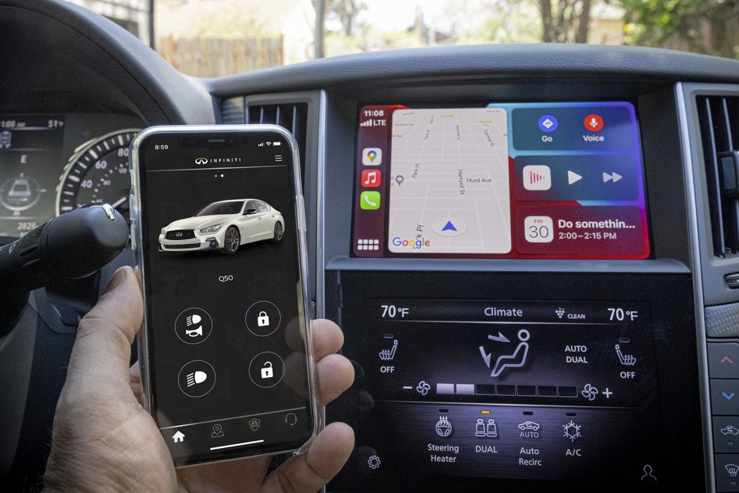 2022年式Q50、Q60所有等級車型均標配無線Apple CarPlay。 摘...