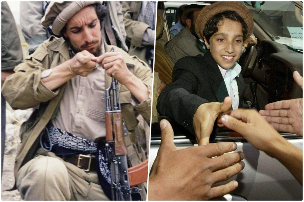 「潘杰希爾之獅」老馬蘇德(左),是阿富汗塔吉克族的領軍人物,也是北方聯盟的英雄領...