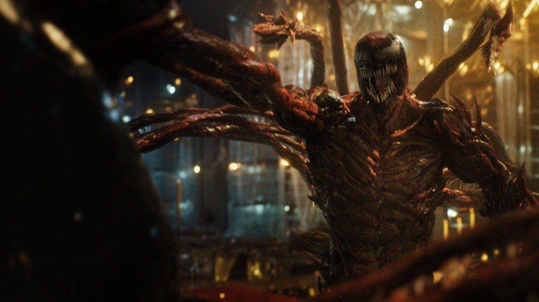 《猛毒2:血蜘蛛》精彩劇照。索尼提供