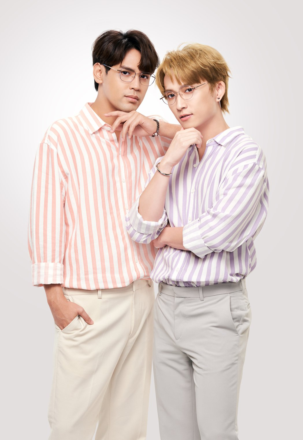 邱鋒澤(右)表示和陳零九工作相當安心。圖/小林眼鏡提供