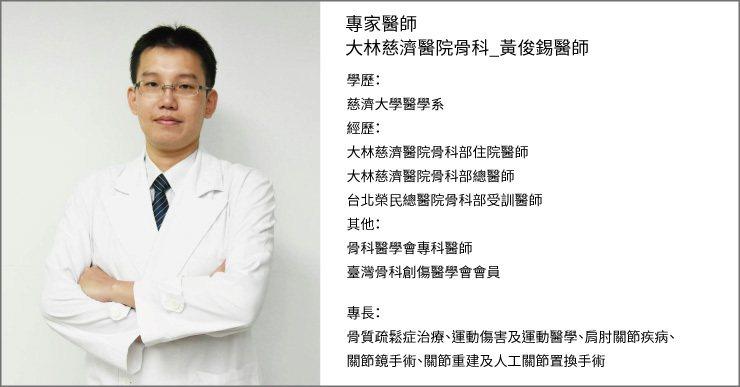 黃俊錫醫師 圖/照護線上