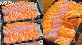 鮭魚控已瘋!台中水產街「10元生魚片」超銷魂 夜貓族才買得到