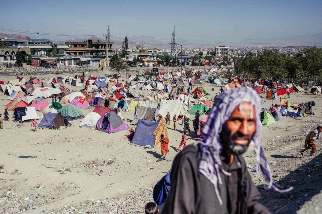 圖為境內流離失所的難民。 圖/法新社