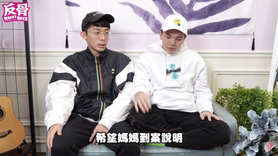 反骨男孩今年2月時將孫生媽媽送警局的過程拍成影片並在頻道上曝光。圖/擷自YouT