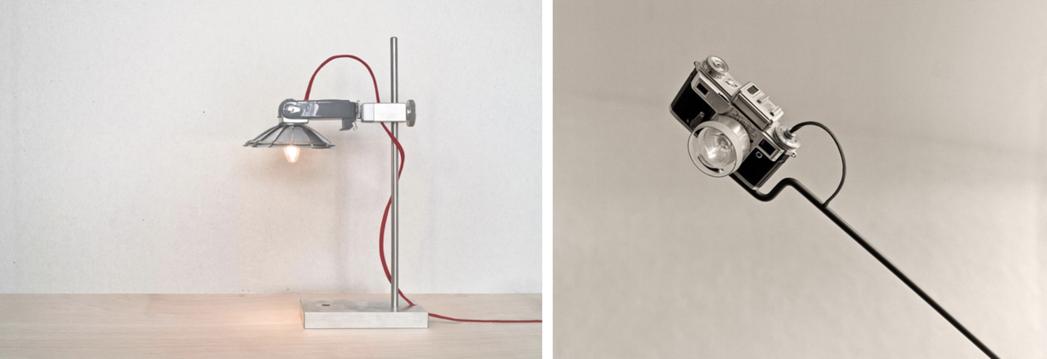 創業初期的作品「相機燈」。 圖/物外YSTUDIO提供