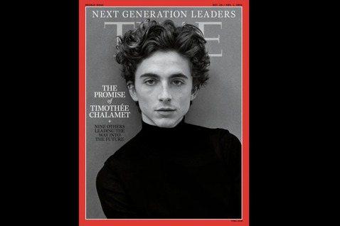 提摩西夏勒梅被「時代」雜誌稱為「下一個世代領導者」之一。圖/摘自Time