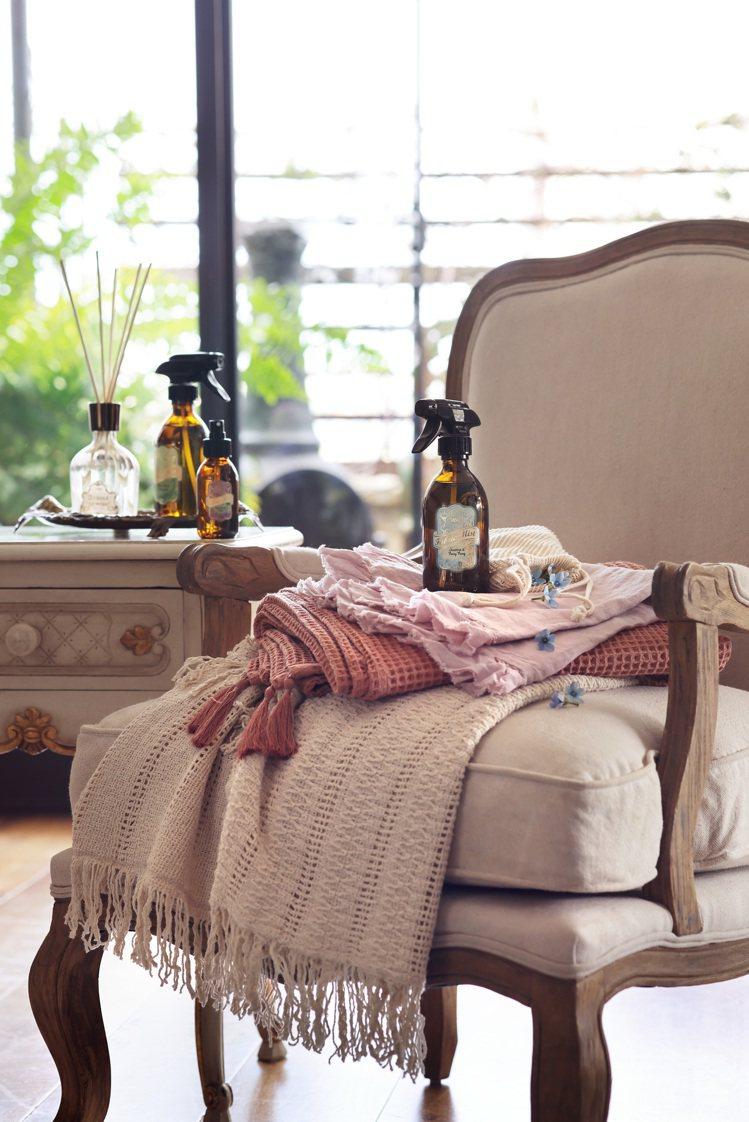 SABON周年慶期間推出織物噴霧系列。圖/SABON提供