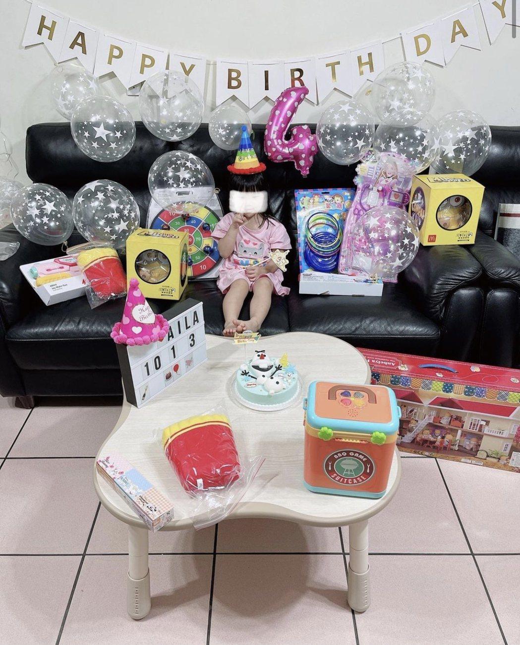 Aila醬今迎4歲生日。圖/摘自IG