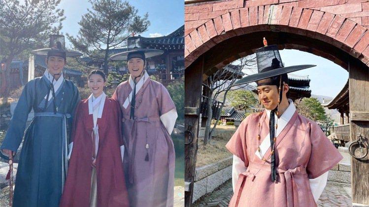 孔明(右)與安孝燮、金裕貞演出的《紅天機》也是近期的話題韓劇之一。圖/取自IG