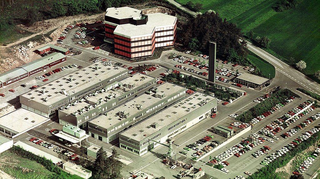 1975年魏薩研發中心鳥瞰照片。 圖/Porsche提供
