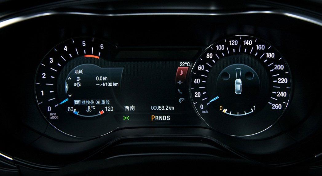 Mondeo ST-Line Wagon數位儀表板。 圖/福特六和提供