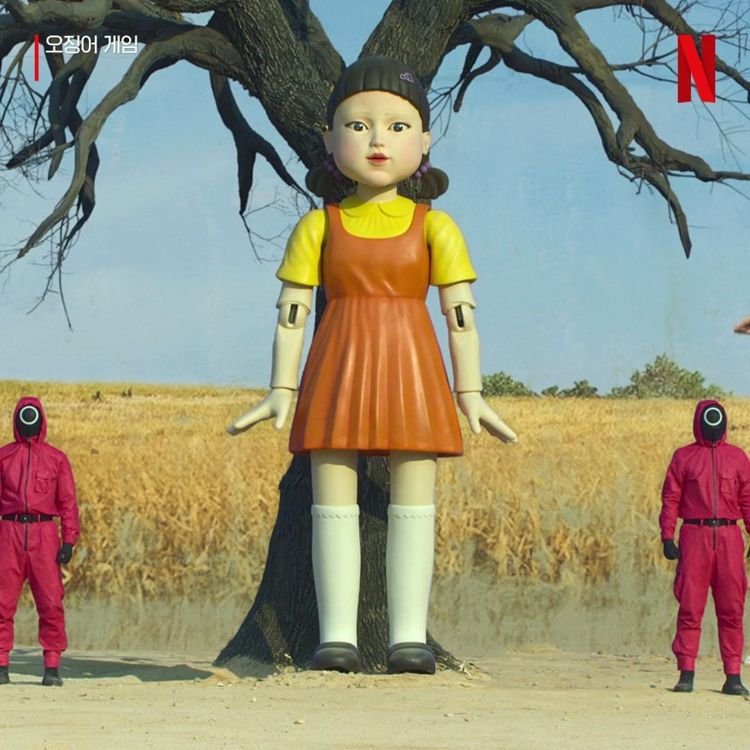 韓劇《魷魚遊戲》中的「一、二、三木頭人」玩偶,將推出限量公仔。圖/摘自insta...