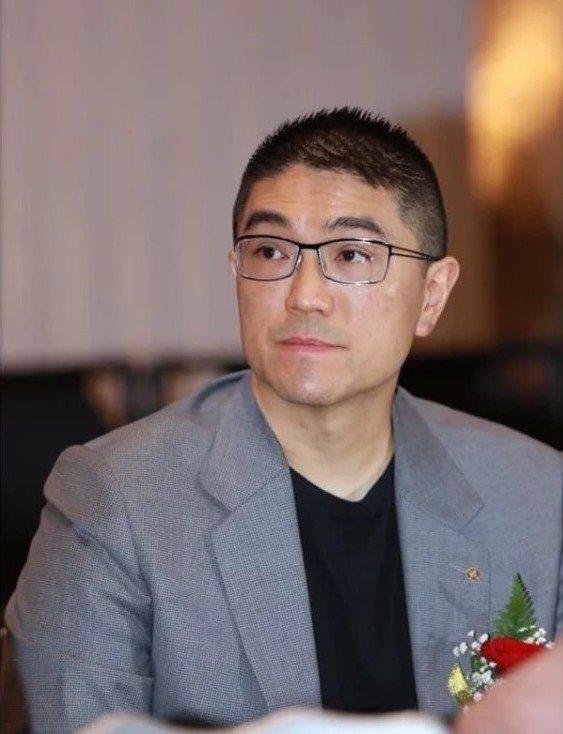 前立委謝國樑宣布選基隆市長。圖/謝國樑服務處提供