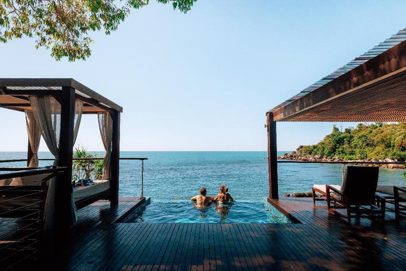大堡礁貝達拉島有近10座設施完善的別墅完美地融合在大自然的美麗環境之中。   圖/昆士蘭州旅遊及活動推廣局提供