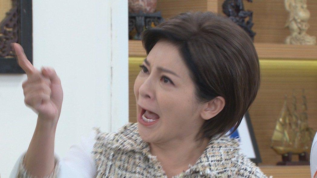 王彩樺在「黃金歲月」中大罵兒子是負心漢。圖/民視提供