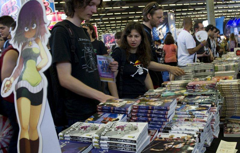 今年1-8月日本漫畫在法國的銷售量衝到2900萬冊。路透