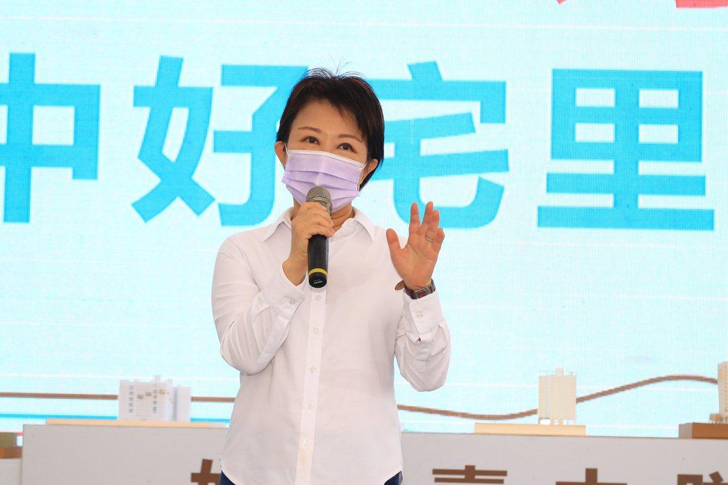 台中「惠來厝社會住宅」今天開工,市長盧秀燕說,「當選市長蓋社宅超過5000戶」的...