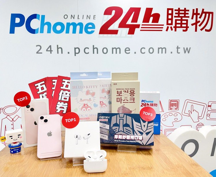 PChome 24h購物盤點「五倍券熱銷TOP10」,以防疫日用、3C數位、娛樂...