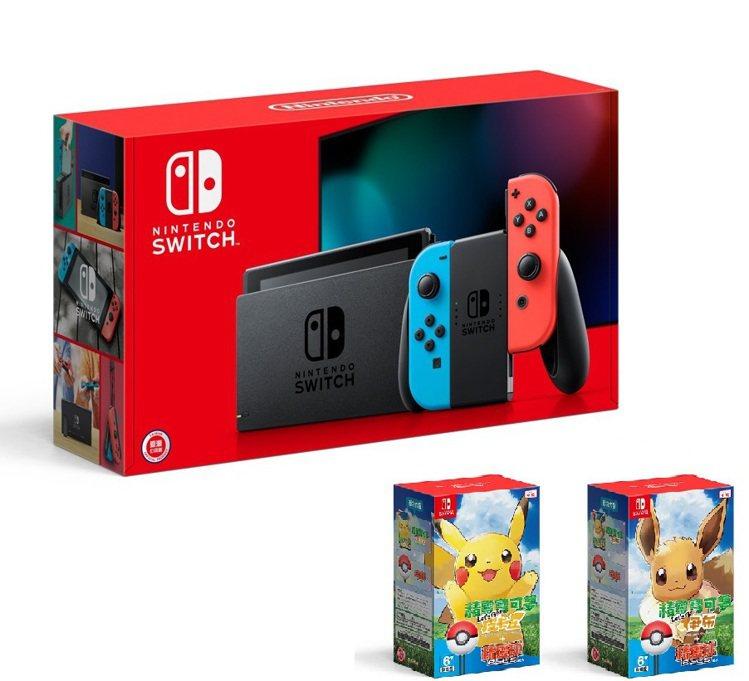 Nintendo Switch新型電力加強版主機+寶可夢Let's Go精靈球P...