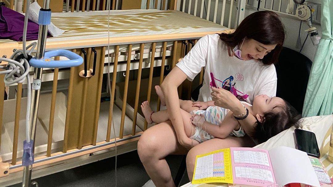 夏如芝1歲女兒「失控痙攣」臉慘白送醫 原因揭曉老公嚇慘