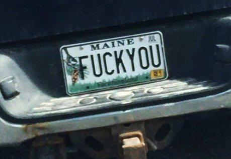 美國緬因州開始禁止使用粗俗、仇恨以及情色意味的車牌號碼!