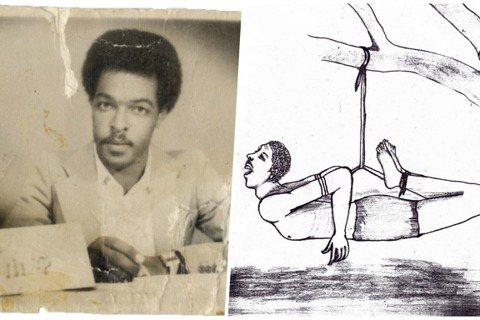 左為達衛特‧伊沙克(Dawit Isaak)本人、右為厄利垂亞的政治刑求  圖...