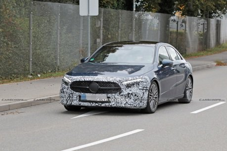 小改款Mercedes-Benz A-Class sedan現身街頭 有老大哥的味道