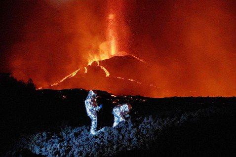 「被困火山熔岩的狗狗們...最後竟被『天龍特攻隊』奇蹟救出?」 圖/法新社