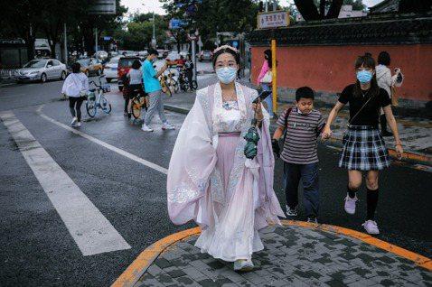 北京遊客。 圖/歐新社