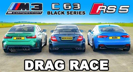 影/BMW M3與Audi RS5 挑戰經典賓士C63 AMG Black Series!