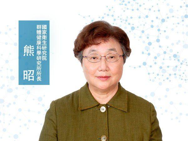 熊昭<p>國家衛生研究院群體健康科學研究所所長