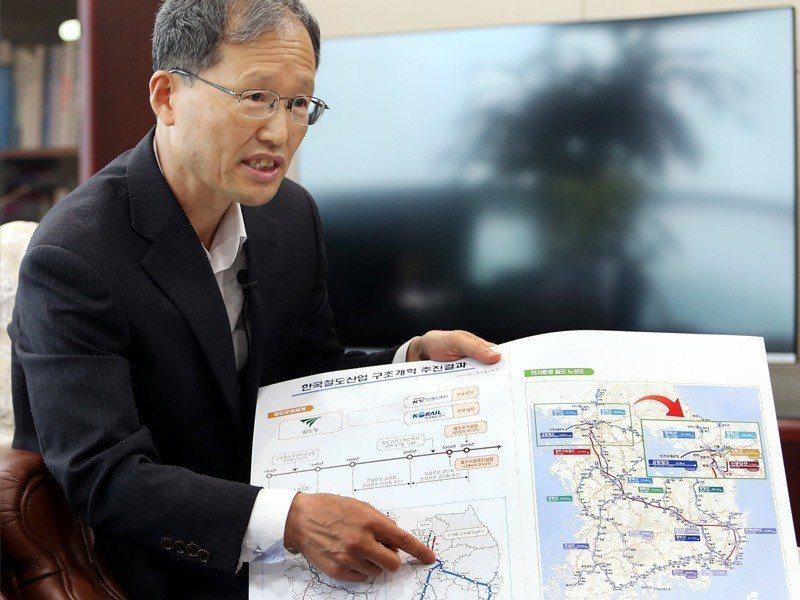 南韓機場鐵道公司執行長金漢榮。記者侯永全/攝影