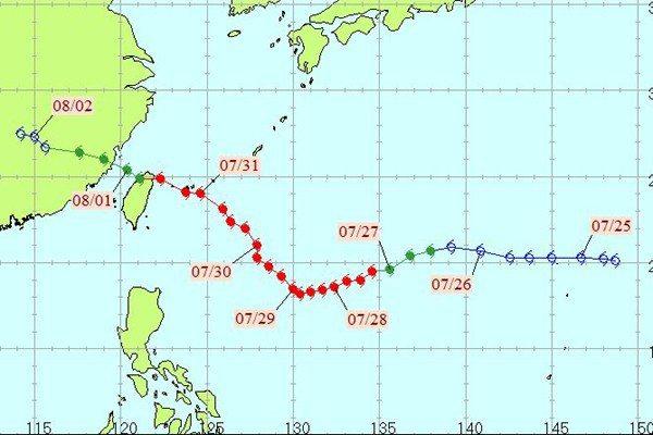 賀伯颱風。圖/中央氣象局