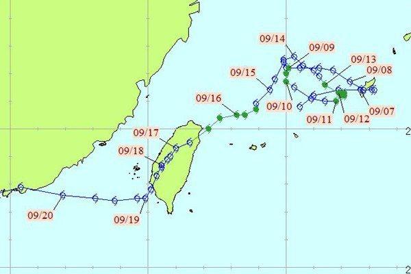 納莉颱風。圖/中央氣象局