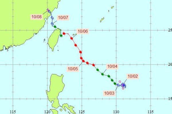 柯羅莎颱風。圖/中央氣象局