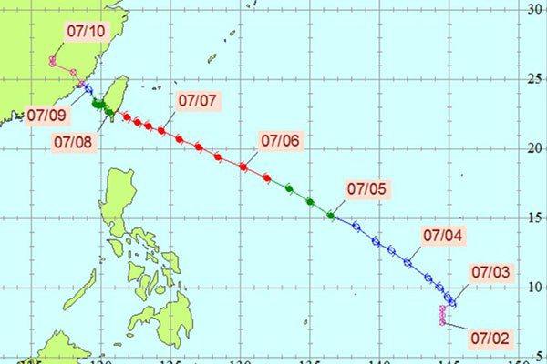 尼伯特颱風。圖/中央氣象局